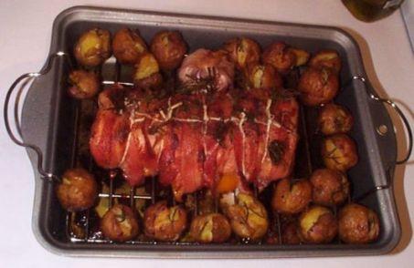 Pork roast cooked