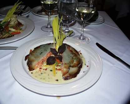 Salmon in potato crust